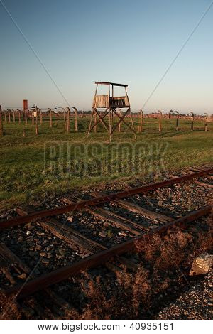 Old Wooden Guard Tower, Auschwitz