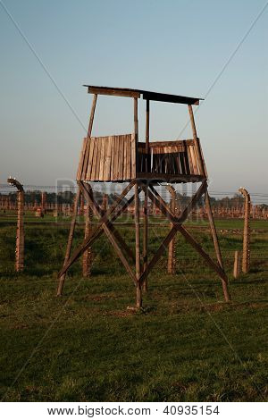 Wooden Guard Watch Tower, Auschwitz