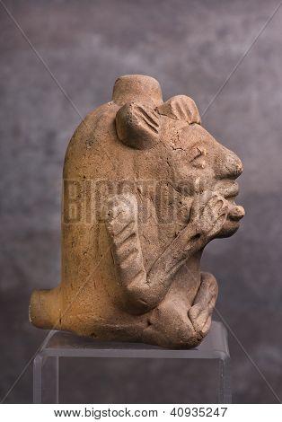 Pre Columbian Mayan Whistle.