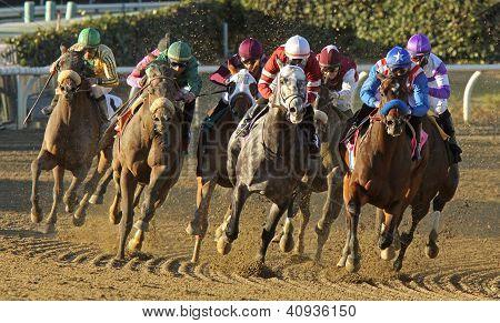 """fed Biz"" Wins The San Fernando Stakes"