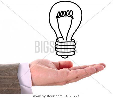Hand And Light Bulb