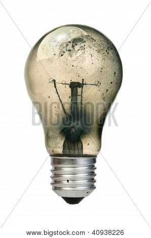Old Burned Light Bulb