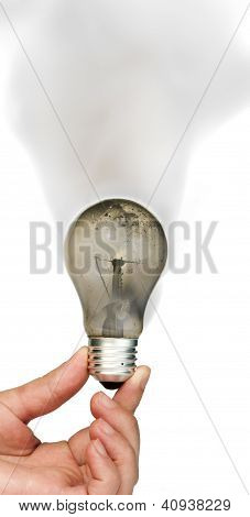 Old Burned Light Bulb