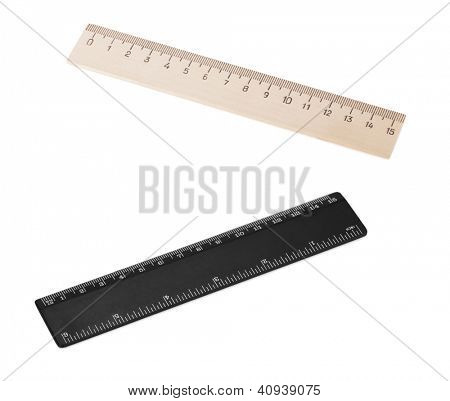 Two rulers. Isolated on white background