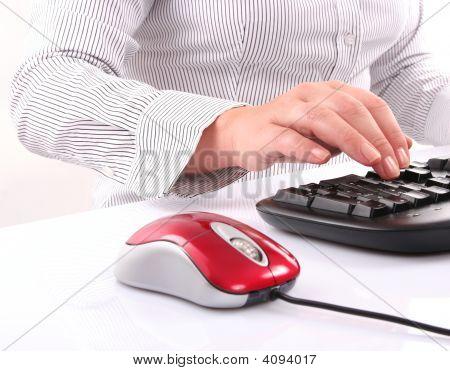 Tyiping On Keyboard