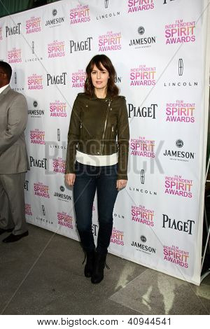 LOS ANGELES - JAN 12:  Rosemarie DeWitt arrives at the 2013 Film Inependent nominees brunch at BOA Steakhouse on January 12, 2013 in West Hollywood, CA
