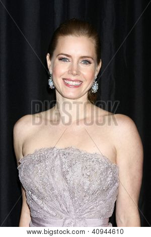 LOS ANGELES - JAN 12:  Amy Adams arrives at the 2013 LA Film Critics Awards at InterContinental Hotel on January 12, 2013 in Century City, CA