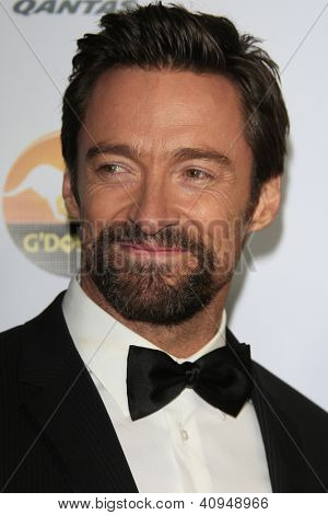 LOS ANGELES - JAN 12:  Hugh Jackman arrives at the 2013 G'Day USA Los Angeles Black Tie Gala at JW Marriott on January 12, 2013 in Los Angeles, CA..