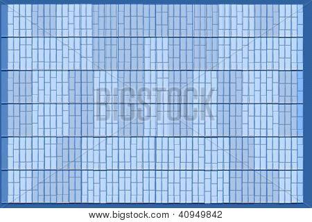 Formas rectangulares en azul