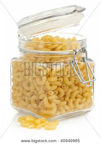 raw pasta isolated on white background