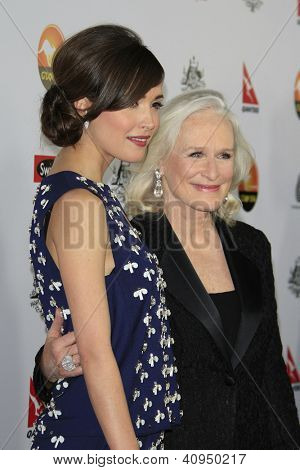 LOS ANGELES - JAN 12: Rose Byrne, Glenn Close at the 2013 G'Day USA Los Angeles Black Tie Gala at JW Marriott on January 12, 2013 in Los Angeles, California