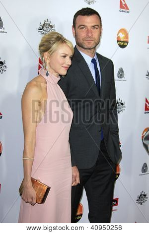 LOS ANGELES - JAN 12: Naomi Watts, Liev Schreiber at the 2013 G'Day USA Los Angeles Black Tie Gala at JW Marriott on January 12, 2013 in Los Angeles, California