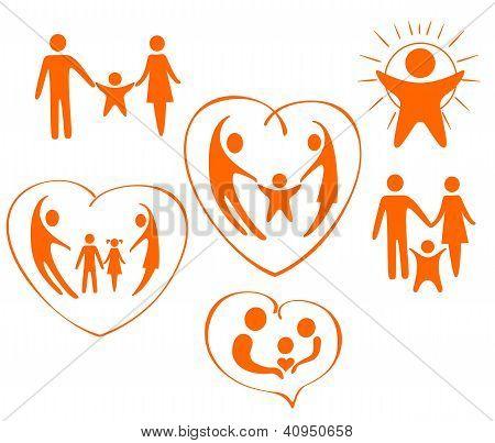 图标的主题是一家人