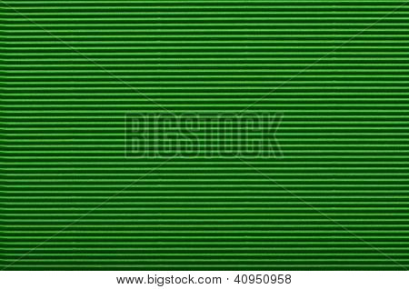 Texture Of Green Corrugated Paper