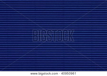 Texture Of Blue Corrugated Paper