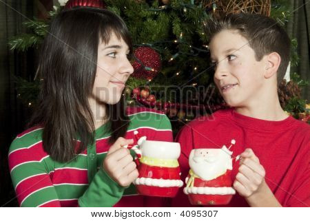 Sharing A Mug Of Hot Chocolate