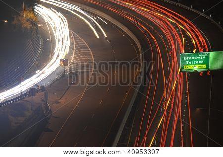 Freeway Light Trails