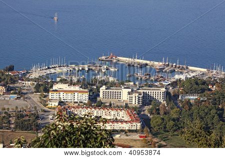 Sea Port Of Kemer City, Turkey