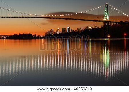 Lions Gate, Vancouver, Dawn