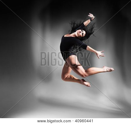 ballet dancer in rehearsal