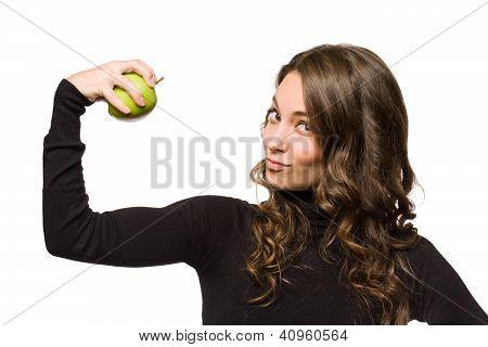 MORENINHA jovem cabida com a Apple.