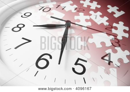 Jigsaw Puzzles And Clock