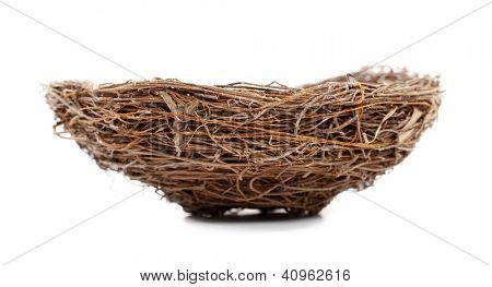 Nest isolated on white background