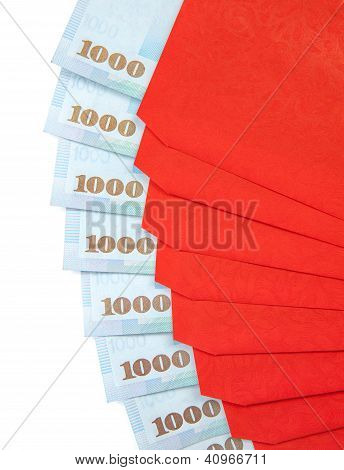 Chinese New Year Red Envelopes With Taiwanese Currency