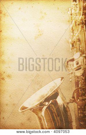 alt Saxophon-Papier