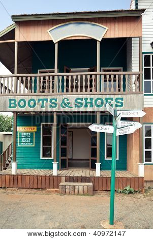 Boots House In Wild West Style