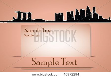 Vector City Skyline Card In Retro Style