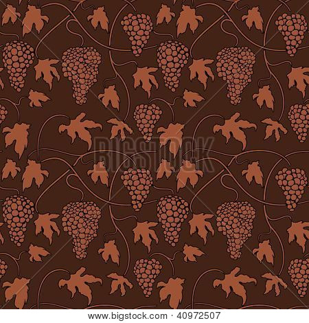 Wine grapes Seamless pattern
