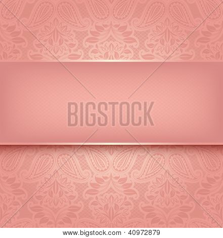 Decorative pink template - Vector illustration 10eps