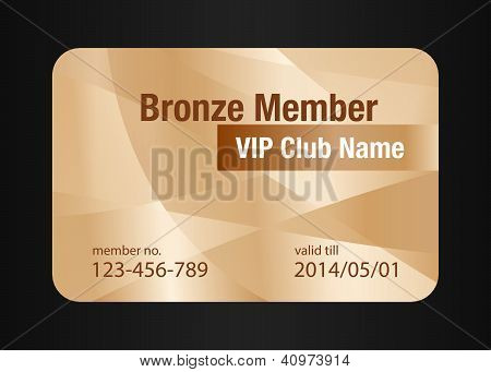 Bronze Vip Club Card