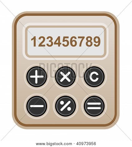 Brown calculator.