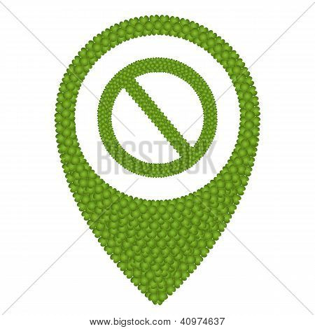 Four Leaf Clover Of Forbidden Sign In Navication Icon