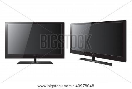 Blank Realistic Vector Lcd/led/plasma Tv Set