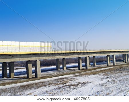 Motorway A1 bridge across the River Vistula