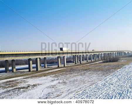 A1 of motorways bridge across a river wis?a
