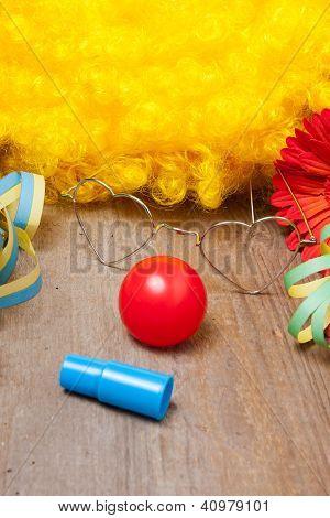 Utensilien Eines Clownskost�ms