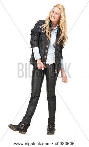 Loveley Girl In Leather