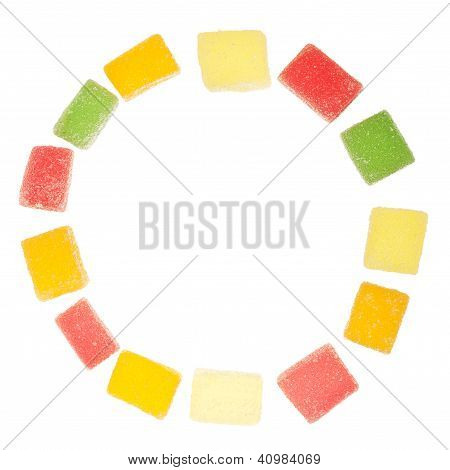 Circle Made Of Jelly Candies