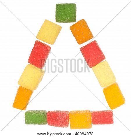 Triangle Made Of Jelly Candies