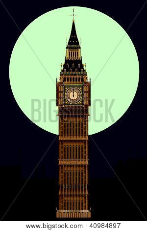Big Ben At Midnight
