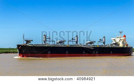 Grain Ship In The Paran� River