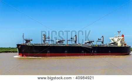 Grain Ship In The Paran� River