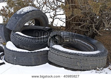 Tires Dumped On Blm Land