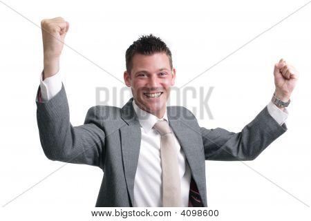 Businessman Showing Excitement