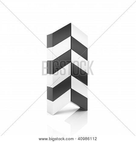 Abstract Black Business Arrow Symbol