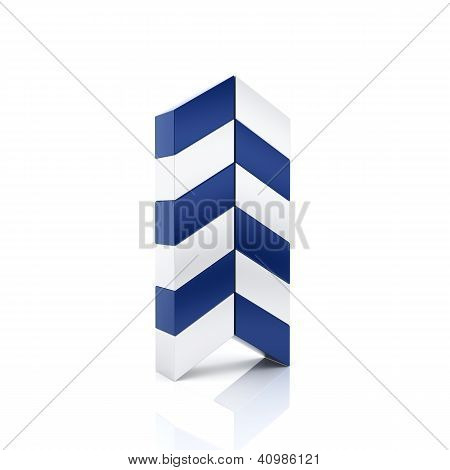 Abstract Blue Business Arrow Symbol